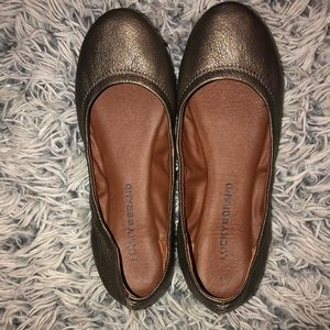 NEW Lucky Brand Pewter Emmie Flats